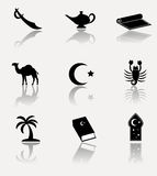 Africa, islam icon set. Royalty Free Stock Photography