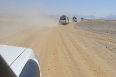 africa jeepsafari Royaltyfria Bilder