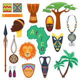 Africa jungle tribal and ancient safari vector illustration. Stock Photography