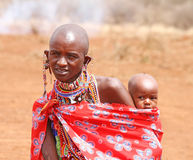 AFRICA, KENYA, MASAI MARA - JULY 2: Female tribal members wearin Stock Image