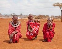 AFRICA, KENYA, MASAI MARA - JULY 2: Female tribal members wearin Stock Image