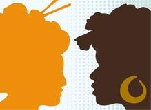 africa kobiety Asia ilustracja wektor