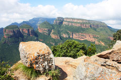Africa Landscape. Landscape in South Africa of mountains Royalty Free Stock Images
