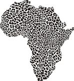 Africa in a leopard camouflage Stock Image