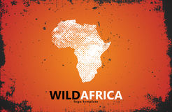 Africa logo. Wild  design.  poster Royalty Free Stock Photo