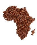 Africa made with coffee Royalty Free Stock Image
