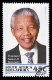 africa Mandela nelsonu opłata pocztowa południe znaczek Zdjęcie Royalty Free