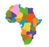 Africa map. Illustration on white Stock Photos