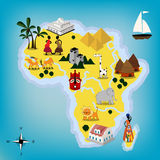 Africa map Stock Photography