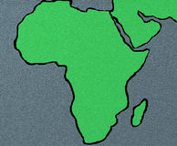 Africa map. Illustration Royalty Free Stock Photography