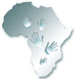 Africa map. Illustrated African map on a white background Royalty Free Stock Images