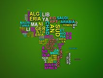 The africa map with all states and their names 3d illustration o royalty free illustration