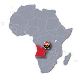 Africa map with Angola Stock Image