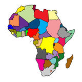 Africa map Stock Photos