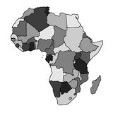 Africa map Stock Image
