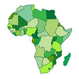 Africa map Royalty Free Stock Image