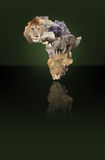 Africa. Map with the big five Stock Photo