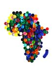 Africa map from color plastic caps Royalty Free Stock Photography