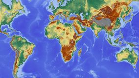 Africa, Map, Continent Royalty Free Stock Images