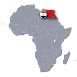 Africa map with Egypt Royalty Free Stock Image