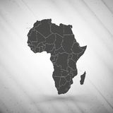 Africa map on gray background, grunge texture Royalty Free Stock Photos
