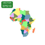 Africa map icon. Business cartography concept Africa pictogram. Vector illustration on white background Royalty Free Stock Photo
