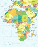 Africa - map - illustration. Africa map - highly detailed vector illustration Royalty Free Stock Photos