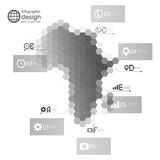 Africa map, Infographic template for business Royalty Free Stock Photos