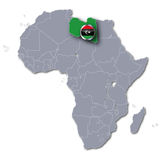Africa map with Libya Royalty Free Stock Photos
