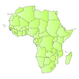 Africa map outline of states Royalty Free Stock Photography
