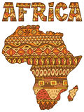 Africa Map Pattern Stock Images