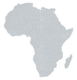 Africa map radial dot pattern gray color Stock Photography