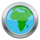Africa Map Silver Icon Royalty Free Stock Images