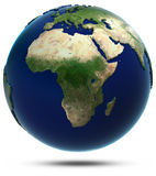 Africa map from space Stock Photography
