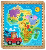 Africa map theme image 4 Royalty Free Stock Image
