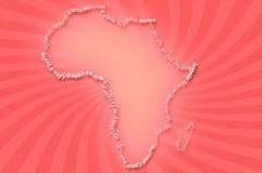 Africa map typograhpy Stock Photo