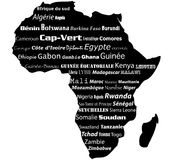 Africa map typograhpy Royalty Free Stock Photos