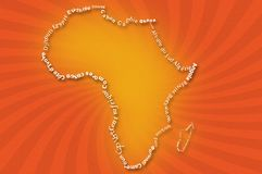 Africa map typograhpy Royalty Free Stock Images