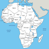 Africa - vector map. Eps 8 royalty free illustration