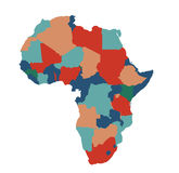 Africa map vector illustration art Royalty Free Stock Photography