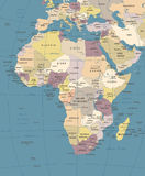 Africa Map - Vintage Vector Illustration Stock Photo