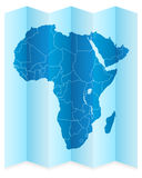 Africa map Royalty Free Stock Photos