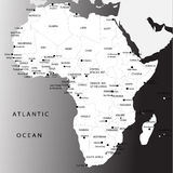 africa mapa polityczna Obrazy Stock