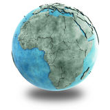 Africa on marble planet Earth Royalty Free Stock Photos