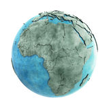 Africa on marble planet Earth Stock Photography