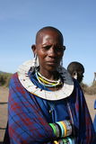 Africa, Masai Mara men head tribe Stock Image