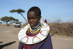 Africa,Masai Mara portrait young woman Royalty Free Stock Photos