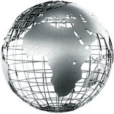 Africa in metal Stock Photography