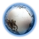 Africa on metallic Earth Stock Photo