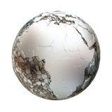 Africa on metallic Earth Royalty Free Stock Photo
